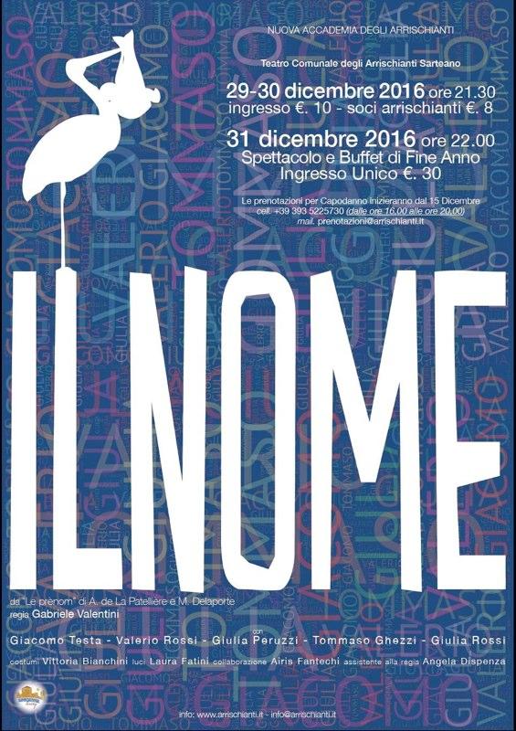 Il Nome, Spettacolo teatrale, Nuova Accademia Degli Arrischianti